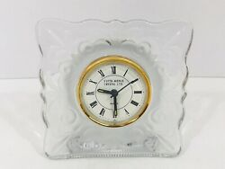 Vintage Fifth Avenue Crystal Glassware Home Decor Table Desk Clock Japan