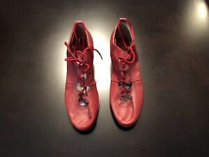 Scottish Highland Dance - Jig Dance Shoes, Red