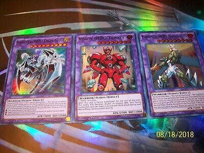 Elemental HERO Magma Neos + Chaos Neos + Vision HERO Trinity SHVA Yu-Gi-Oh! - Elemental Hero Neos