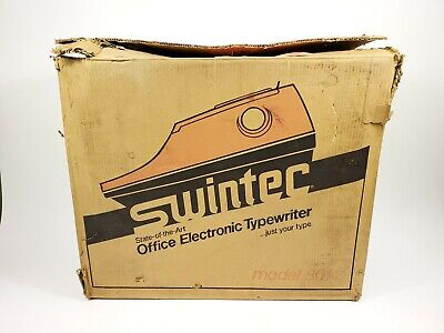 Vintage Swintec 8014 Wide Format Electronic Typewriter New Old Stock Nos