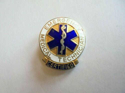 Vintage 1977 EMT Emergency Medical Technician Enamel Lapel Pin