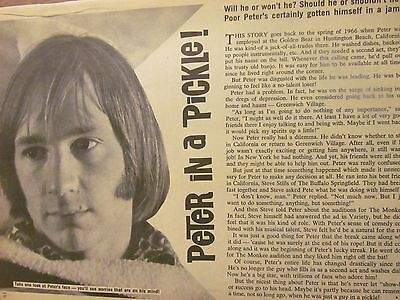 Peter Tork, The Monkees, Full Page Vintage Clipping