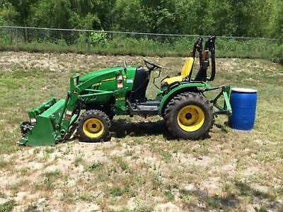 2014 John Deere 2025R Utility Tractor With Loader and Other Attachments