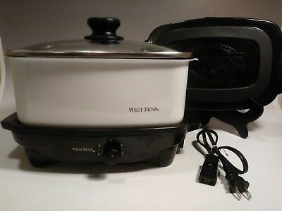 West Bend 84915 5-Quart Oblong-Shaped Slow Cooker with Tote Cookers