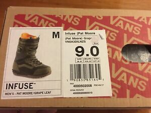 0f87112ffa 2018 Vans Infuse Pat Moore Snowboard Boots size 9.0