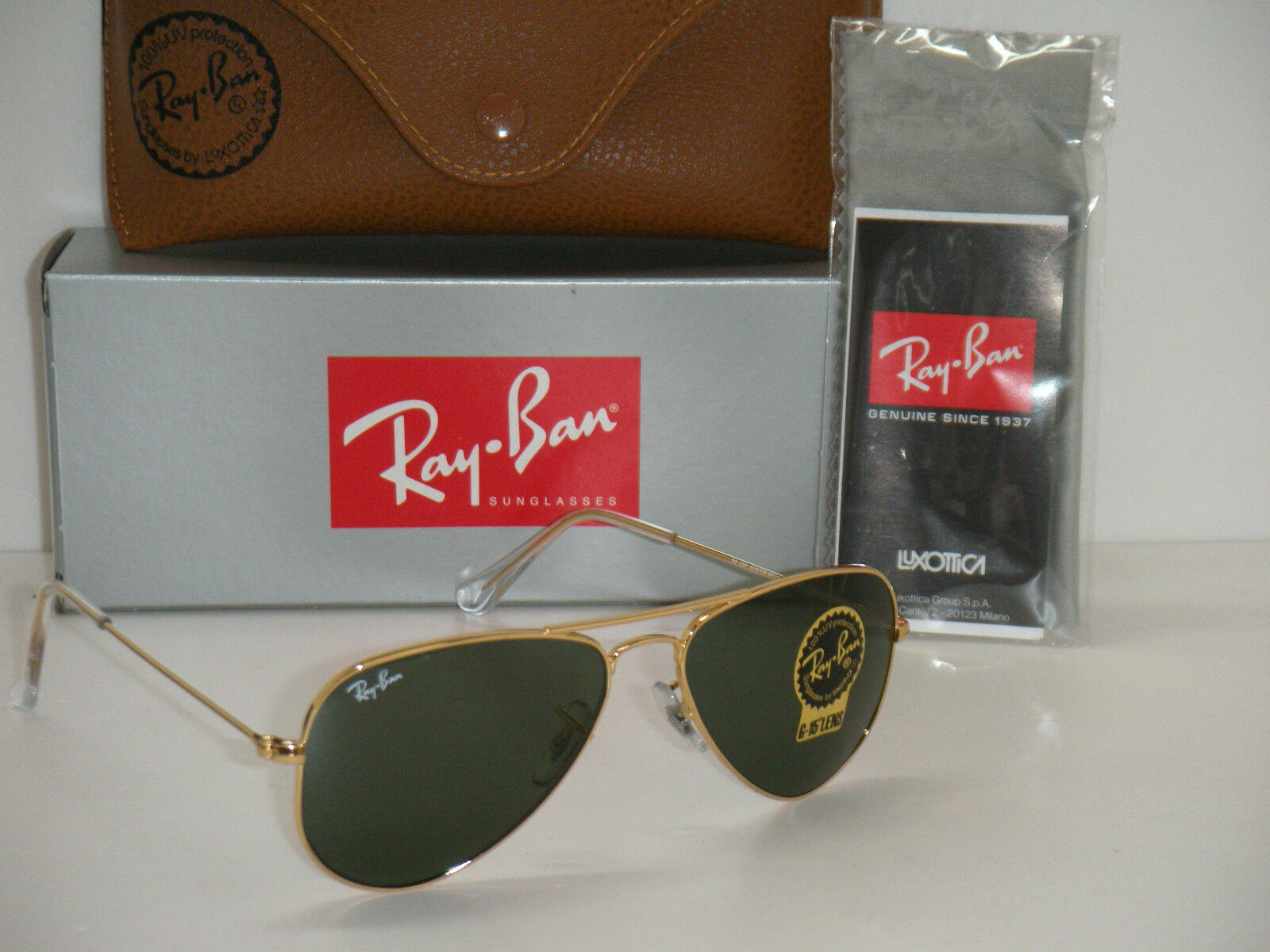 ffab31e0b0 RAY BAN AVIATOR RB 3044 L0207 52mm GOLD FRAME W  G-15XLT GREEN SUNGLASSES