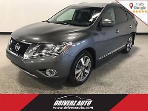 2015 Nissan Pathfinder Platinum CLEAN CARPROOF, LEATHER, BLIN...