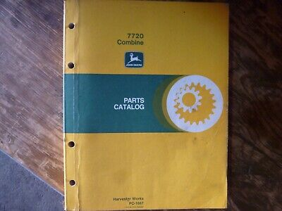 John Deere 7720 Combine Parts Catalog Manual Book Original Pc-1667