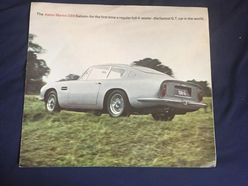1965 Aston Martin DB6 Large Color Brochure Prospekt