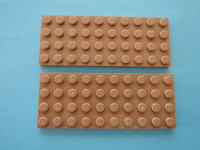 LEGO 2 X PLATTE 3030 DUNKEL BEIGE DARK TAN 4X10