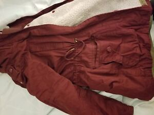 Garage m womens burgundy winter coat