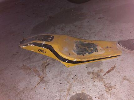 Vintage flat track race bike seat piece Harley bobber xr750