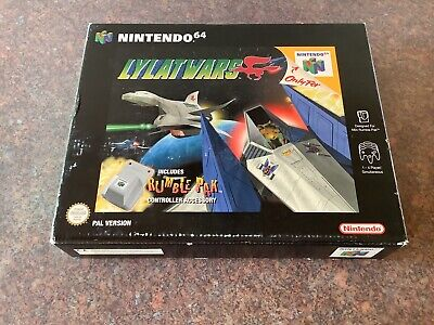 Nintendo N64 Game Lylat Wars Big Box With Rumble Pak Complete Boxed In VGC