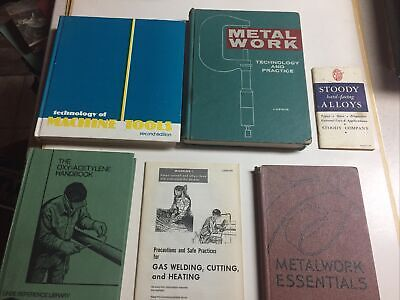 Metalworking And Welding Machine Tools Books Lot Of 6