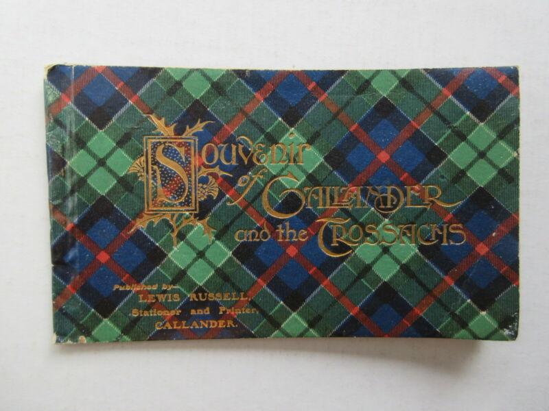 vintage SOUVENIR of CALLANDER and the CROSSACHS SCOTLAND picture booklet