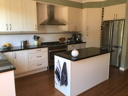 Kitchen & Kitchen Island including appliances