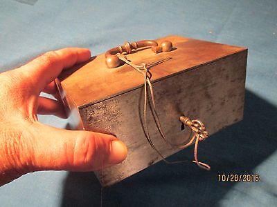 STEEL MONEY BOX WITH KEY  - 18TH CENTURY ?  #1