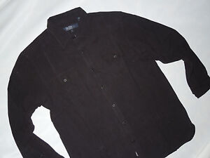 NWT mens NAT NAST  silk   SHIRT ~ MEDIUM / M ~ Long sleeve ~ Black full button