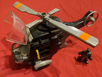 Fisher Price Imaginext DC Super Friends Batman Figure Helicopter Batcopter