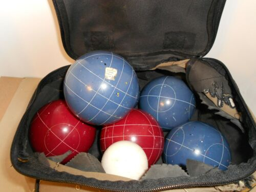 VINTAGE Sportcraft Official BOCCE SET MAde in ITALY - 8 Balls/Jack/Pallino