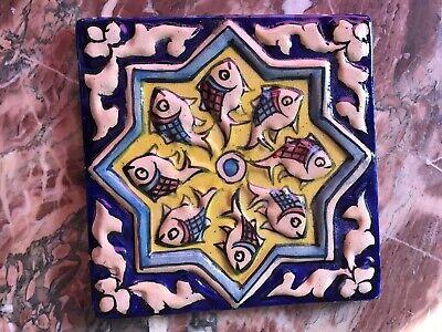 Keramik Schiefer Fliese (Keramik Handbemalte Kachel,Fliesen,Wandschmuck 15x15)