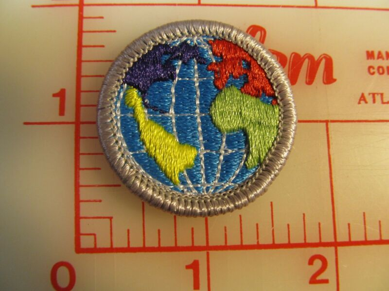 Citizenship in the World merit badge plastic backed patch (oP)