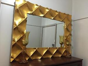 CHEAP STUNNING WALL GOLD FRAMED MIRROR Revesby Bankstown Area Preview