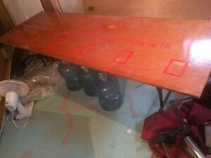 Solid 3/4 inch stained table