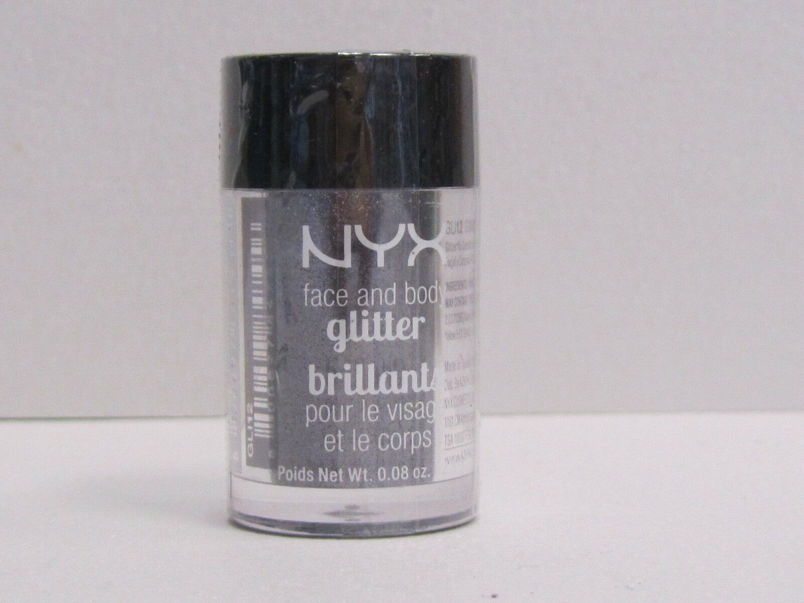NYX Face and Body Glitter color GLI12 Gunmetal 0.08 oz Brand New With Sealed