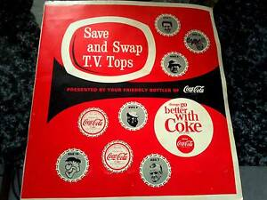 PRICELESS 1965 TV COCA COLA BOTTLE TOP COLLECTION ADS7 NWS9 SAS10 Happy Valley Morphett Vale Area Preview