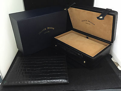 FRANCK MULLER WATCH BOX CASE CROCODILE PATTERN 100% AUTHENTIC fn370