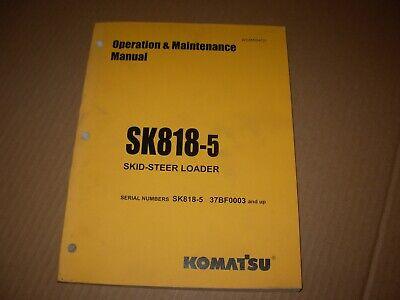 Komatsu Sk818-5 Skid Steer Loader Operation Maintenance Manual 37bf0003 - Up