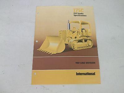 International Harvester 175c Pay Loader Specifications Brochure