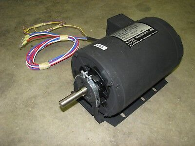 Magnets Electric Motor 2 Hp 1725 Rpm 3 Phase 208-230 Volt Ac Military Surplus