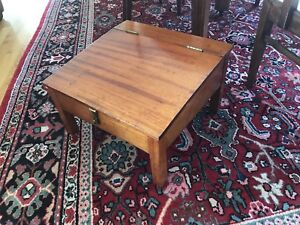 ANTIQUE MAHOGANY CAPTAINS DESK