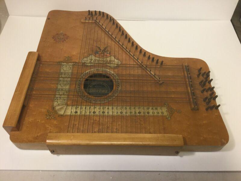 1900 Bredshall & Fabre Zith o Harp Very Rare