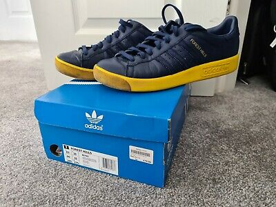 adidas forest hills size 10 blue yellow RARE