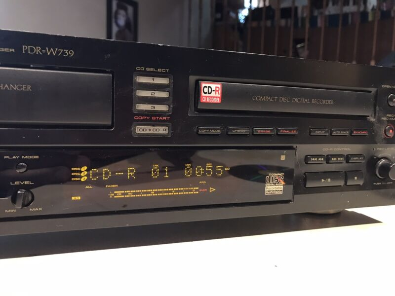 Pioneer PDR-W739 CD Recorder & Triple Changer Combo Player ~ Needs Attention