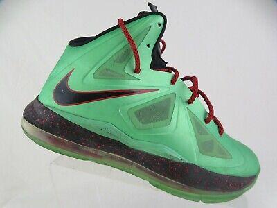 NIKE Lebron 10 X Christmas Green Sz 7Y Kids Basketball Shoes
