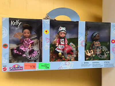 BARBIE Kelly 2002 Toys R Us Exclusive Friends of the World Set of 3 by Mattel!