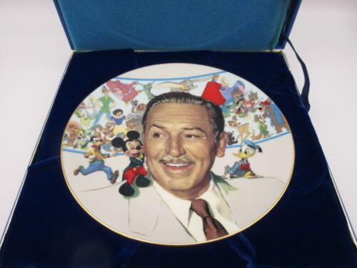 1986 Walt Disney 85th Birthday of Walter Elias Disney Plate w/ Original Box