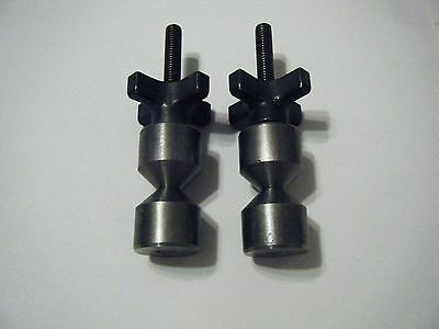 Davis 1 14-two Hole Pins- Carbon Steel- 38-16- Quick Acting Knobs.