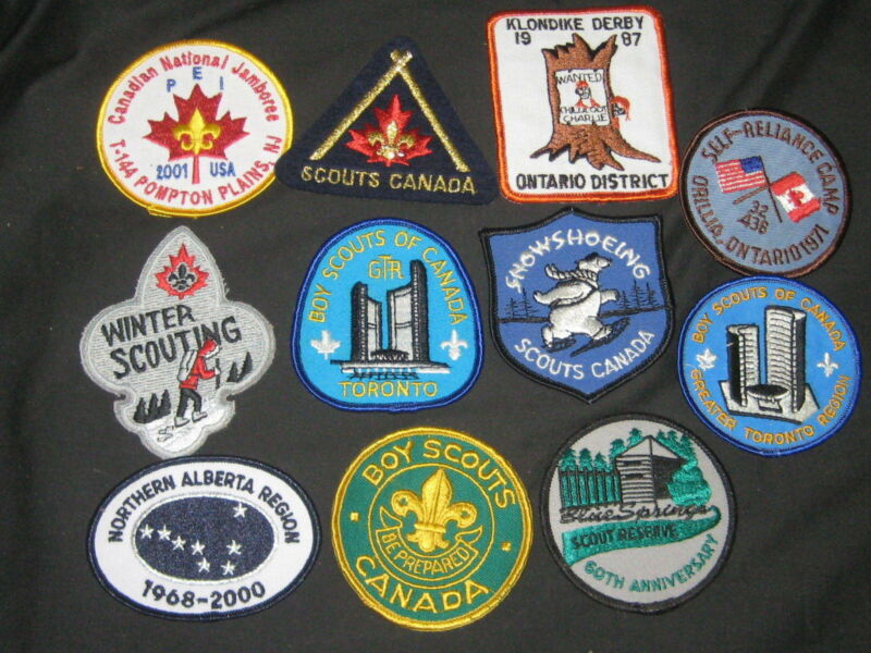 Canadian Boy Scout Patches, Lot of 11                c30