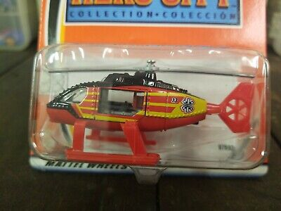 Matchbox #13 Hero City Hospital Helicopter Black/Red 2003