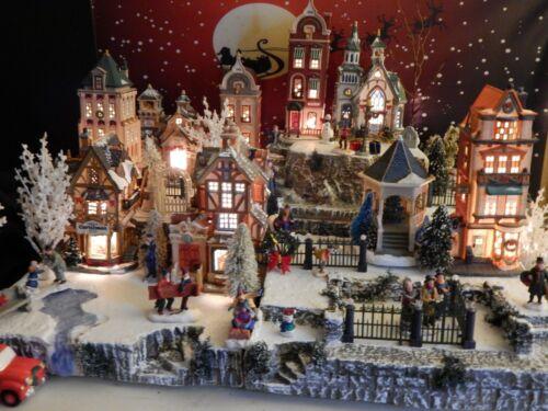 Large 4 level 24x28 VILLAGE Display PLATFORM Christmas base Dept 56 Snow Village