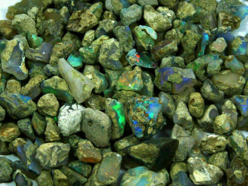 100Cts Natural Super AAA Welo Fire Ethiopian Opal Rough Wholesale Gemstone Lot