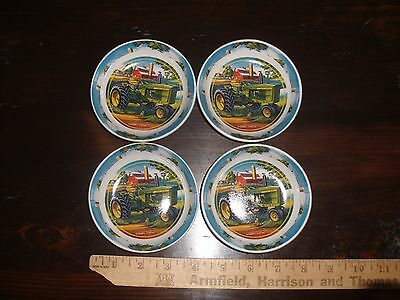 John Deere Green Tractor by Edward C Schaefer Coasters or Finger Bowls Set of 4