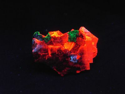 WILLEMITE  IN  CALCITE w HYDROZINCITE STERLING HILL MINE  NEW JERSEY