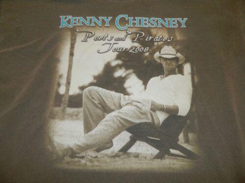 Kenny Chesney XL 2008 Tour T-shirt Poets & Pirates