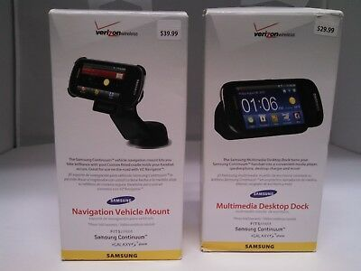 Samsung New Continuum Lot of 2 Desktop Charger and Car Cradle